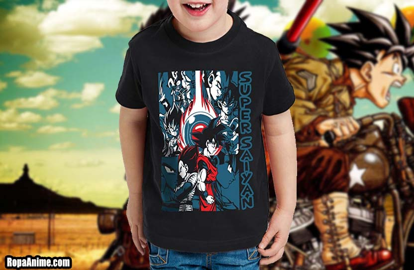 camisetas dragon ball para niños